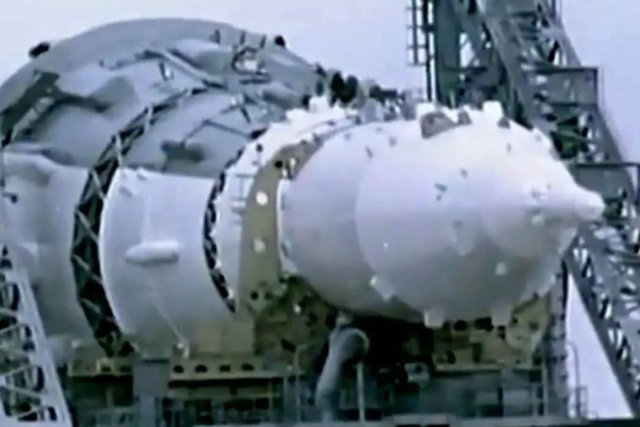 Cohete soviético N1 con el cual la Unión Soviética pretendía ir a la luna. El mayor accidente aeroespacial en la historia.