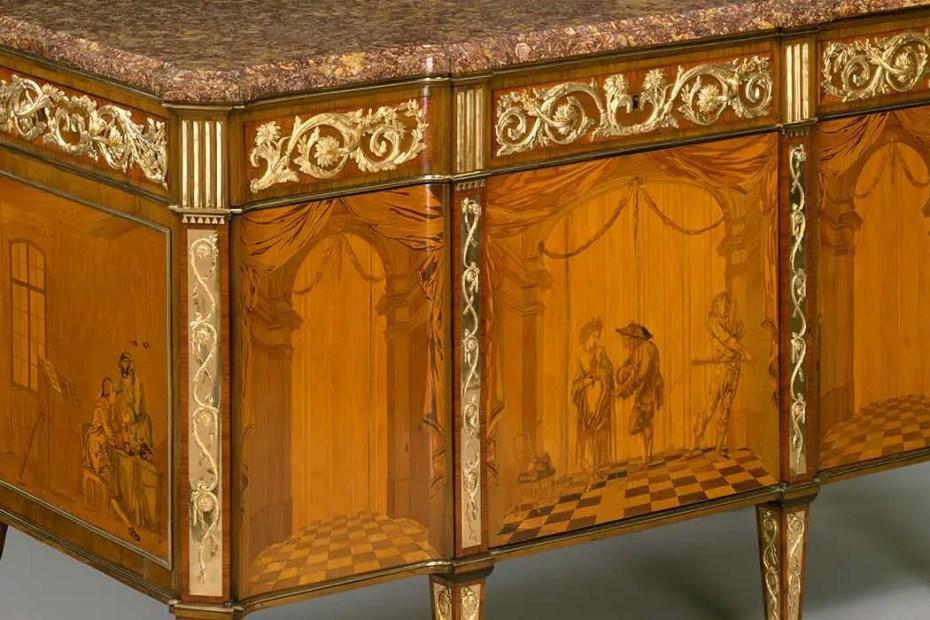 Muebles mecánicos de la realeza francesa.