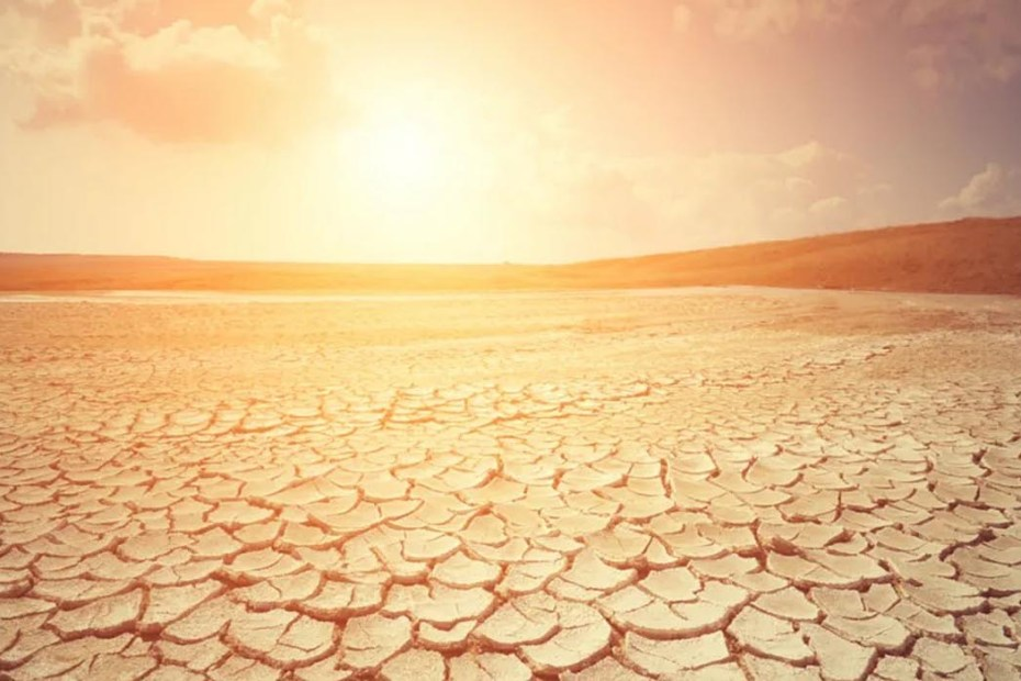 Imagen de un caluroso desierto, los extremos de la tierra.