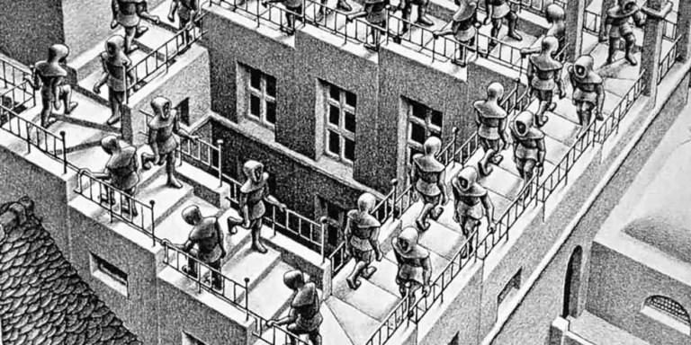 Halucii, una animación basada en el arte matemático de Escher