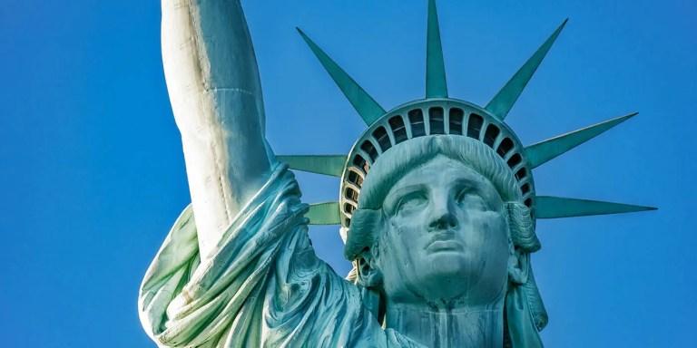Estatua de la Liberta, Nueva York, Estados Unidos de América.