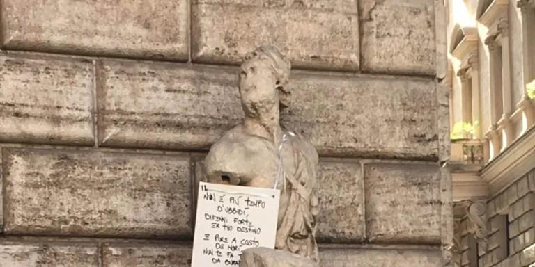Las estatuas parlantes de Roma y el descontento social