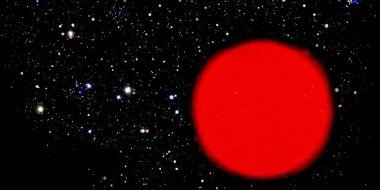 Estrella gigante roja, el mismo tipo de la estrella más grande del universo.