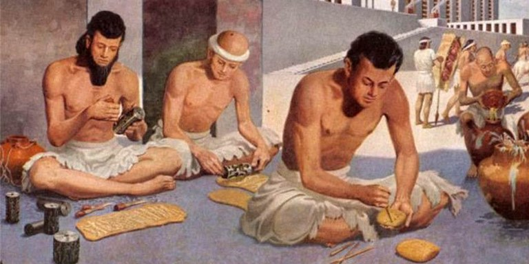 Fabricantes babilonios de jabón.