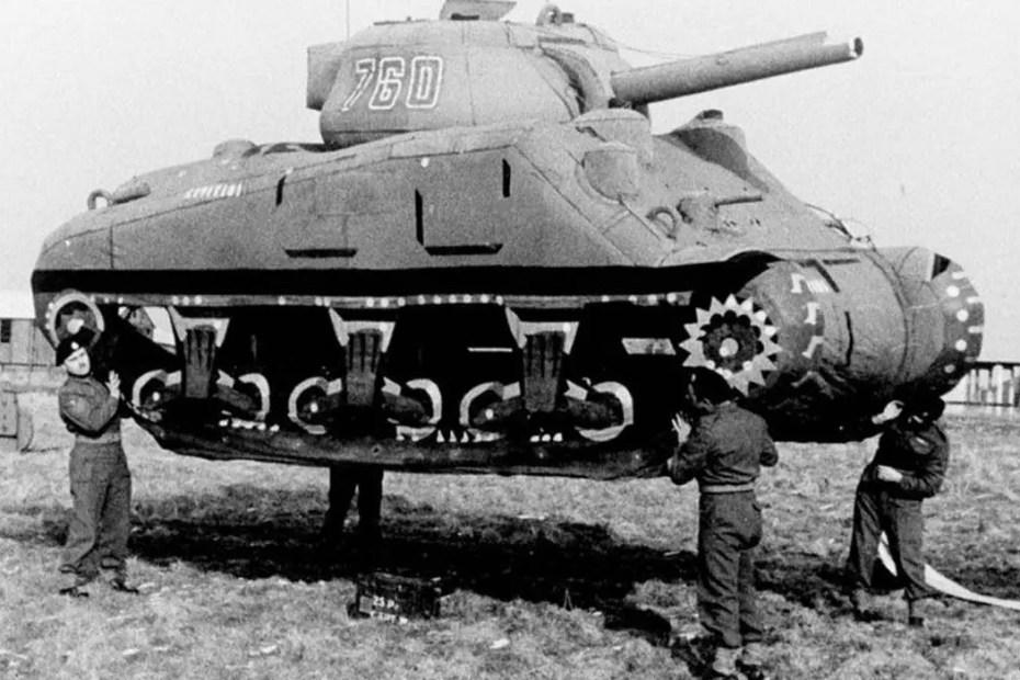 Tanque inflable de la Operación Fortitude.