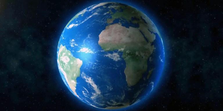 Detalle del planeta tierra, los récords de la naturaleza.