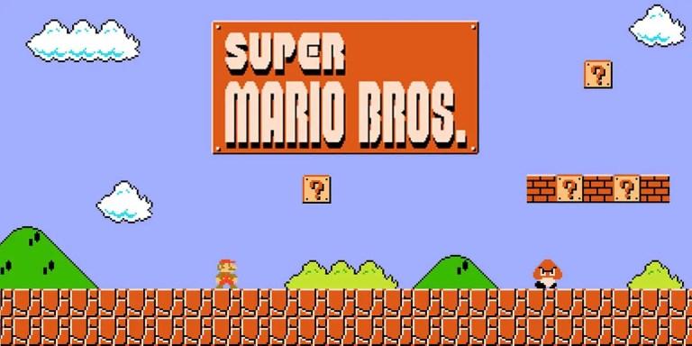 Pantalla del Super Mario Bros, uno de los más clásicos juegos de Nintendo.