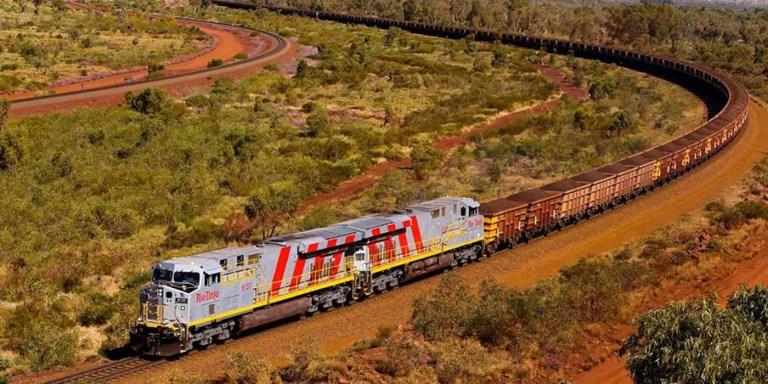 El tren de Pilbara, el tren más grande y largo del mundo 682 vagones