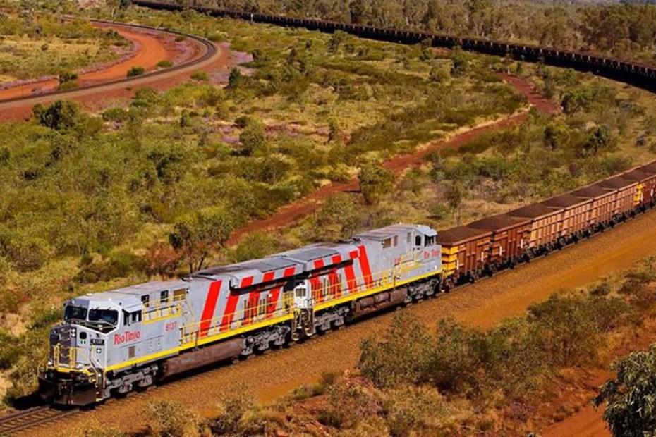 El tren de Pilbara en Australia, el tren más largo del mundo.