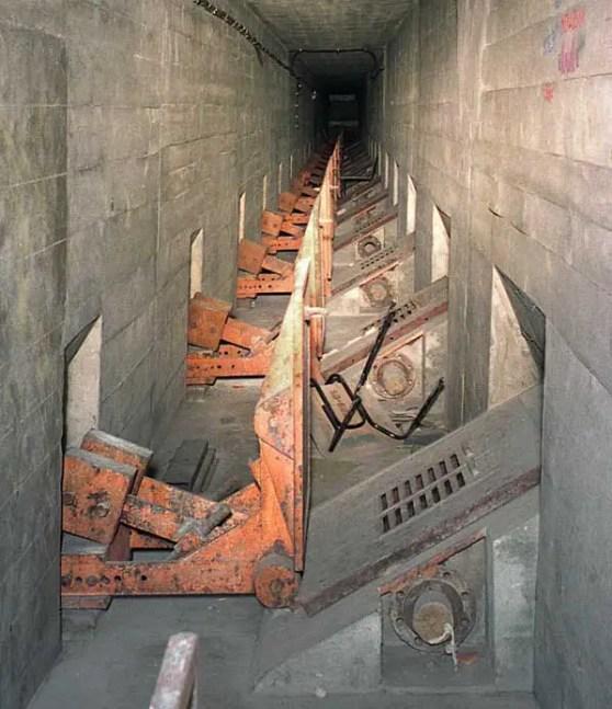Restos del complejo Falkenhagen, donde se desarrollo la Sustancia-N
