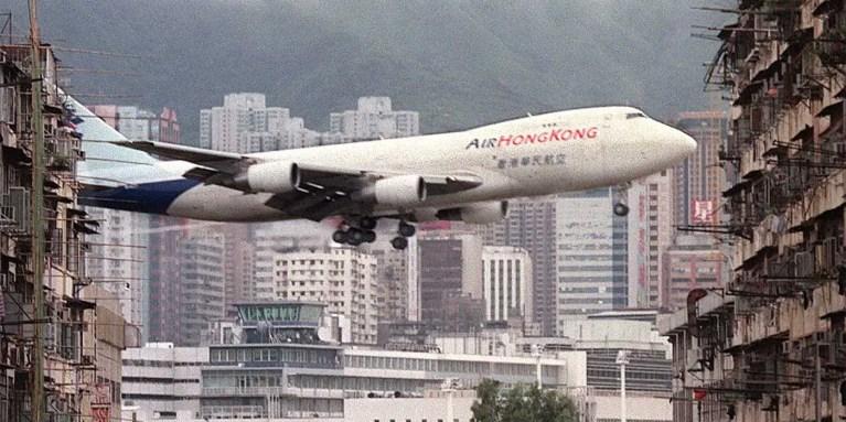 Kai Tak, el aeropuerto ubicado en medio de la densidad urbana de Hong Kong