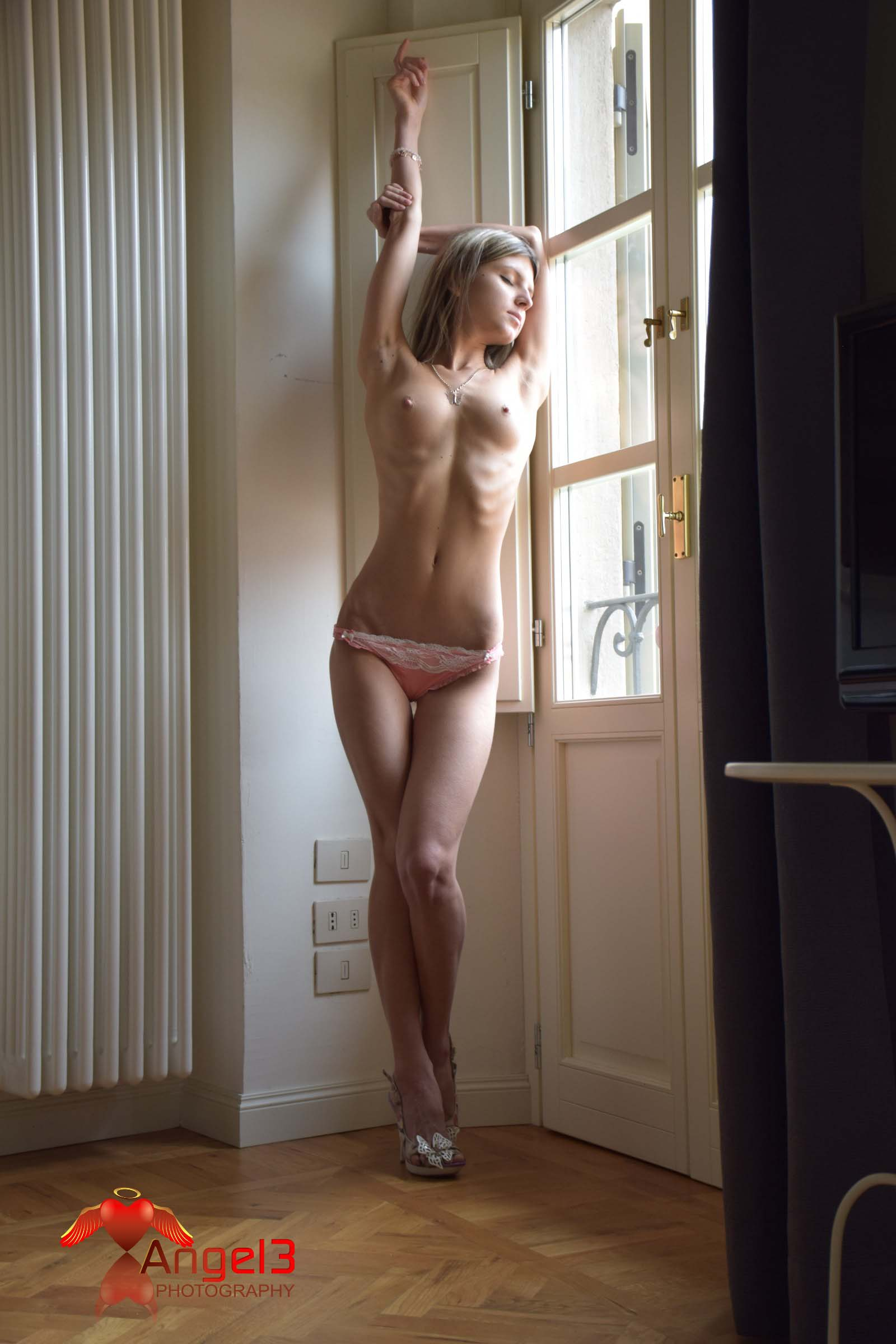 Gina Gerson Pink Lingerie  Angel3