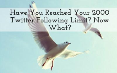 Have You Reached Your 5,000 Twitter Following Limit?