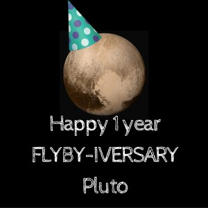 Happy 1 year Flyby-iversary Pluto