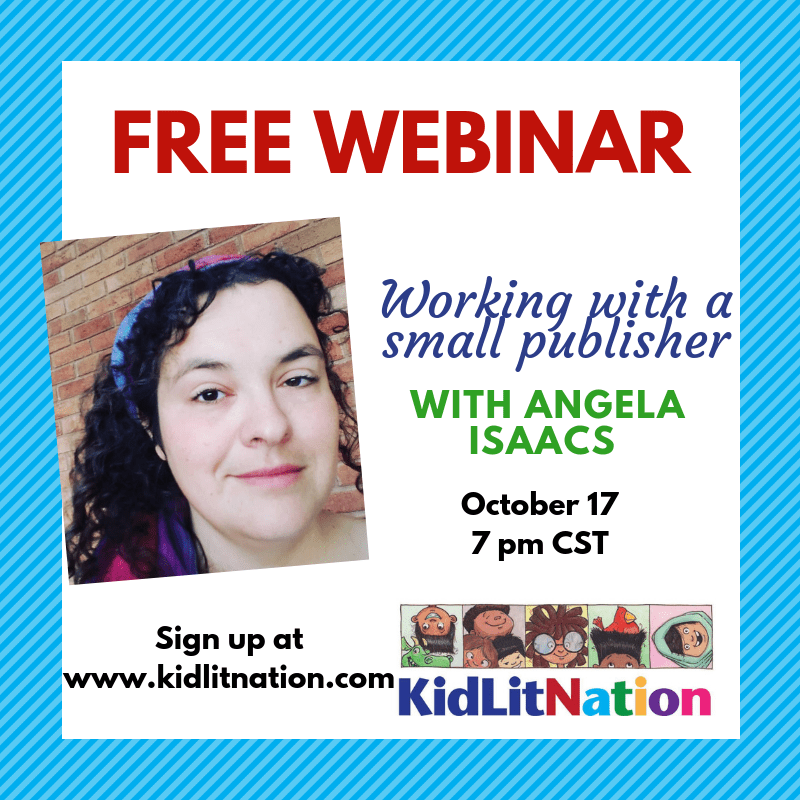 Free Webinar with Angela Isaacs on Wed. Oct. 17 at 7pm