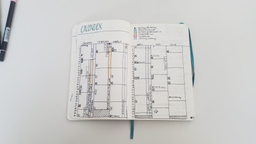 2018 Writing Bullet Journal - Calendex