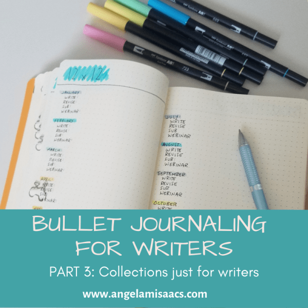 Bullet Journaling for Writers: Part 3 Collections to organize your writing