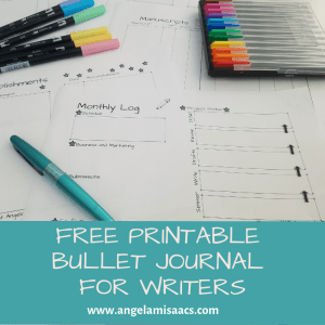 Free Printable Bullet Journal for Writers