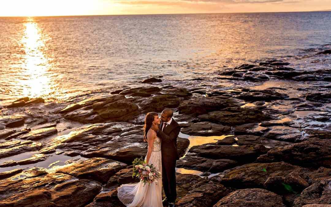 Intimate Maui Wedding at Merriman's   Jessie + Herman