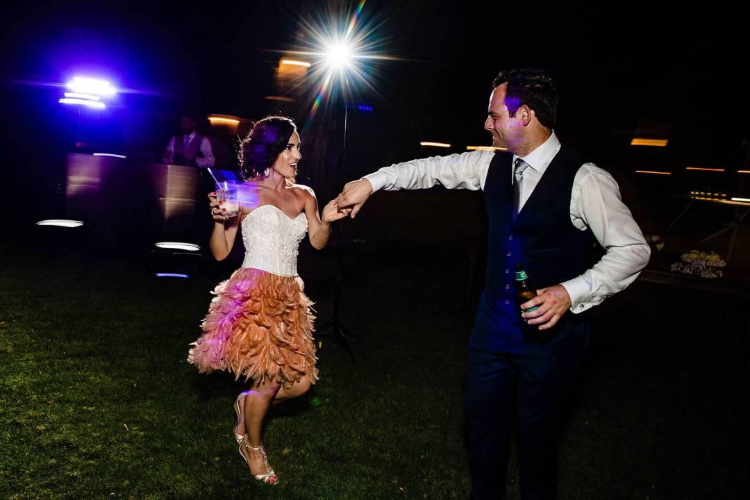 Maui bride and groom dancing