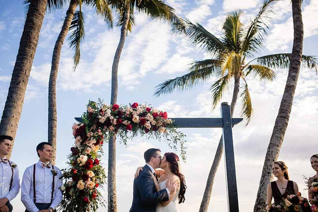 first kiss at white orchid beach house