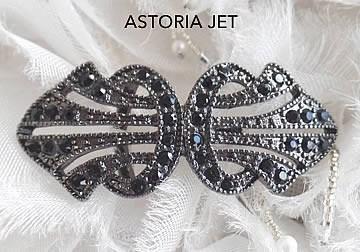 Astoria Jet Brooch