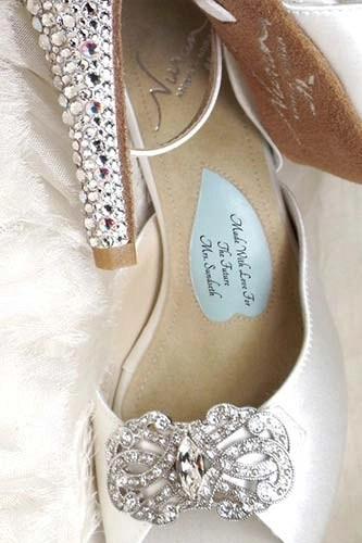 Angela Nuran shoe inscription