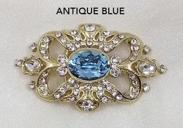 Antique Blue Brooch