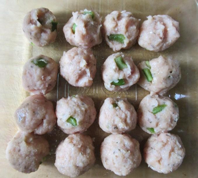 Turkey Meatballs Prepped