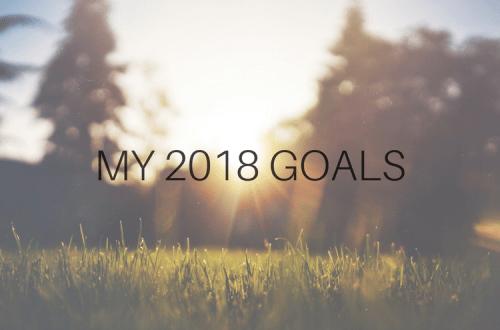 My 2018 Goals