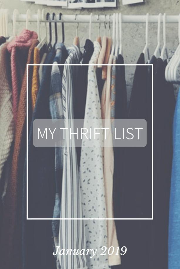 My Thrift List