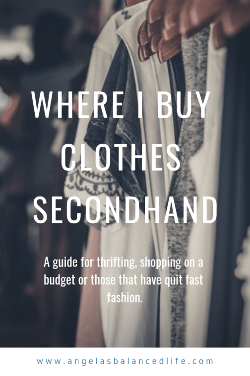 Where I Buy Clothes Secondhand