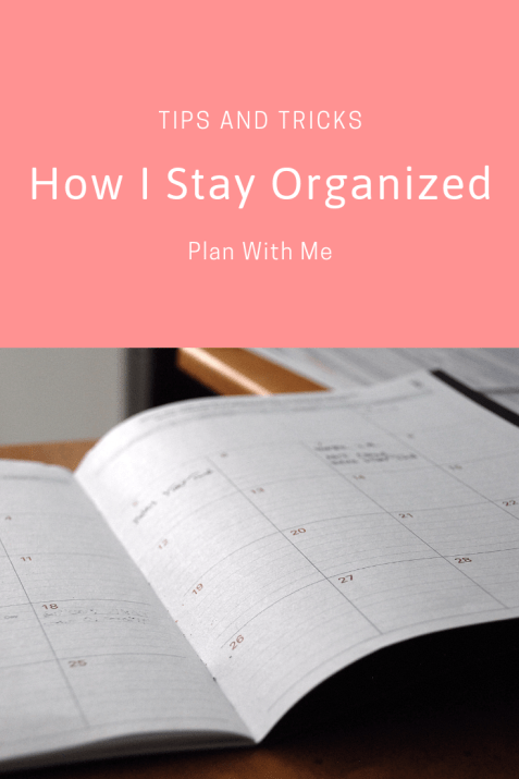 How I Stay Organized | Plan With Me
