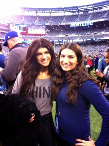 Hanging out with Teresa Giudice at the Giants game last year