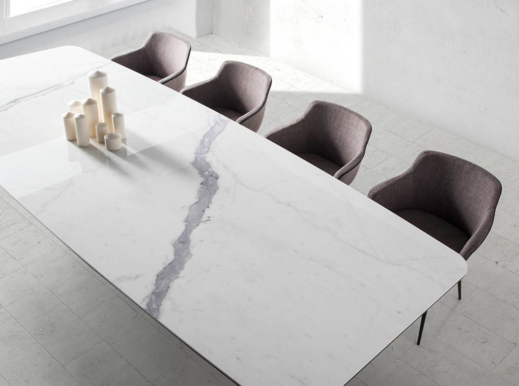 Dining table with ceramic marble cover  Angel Cerd SL