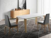Esstisch aus Massivholz mit Tischplatten aus Glas - Angel ...