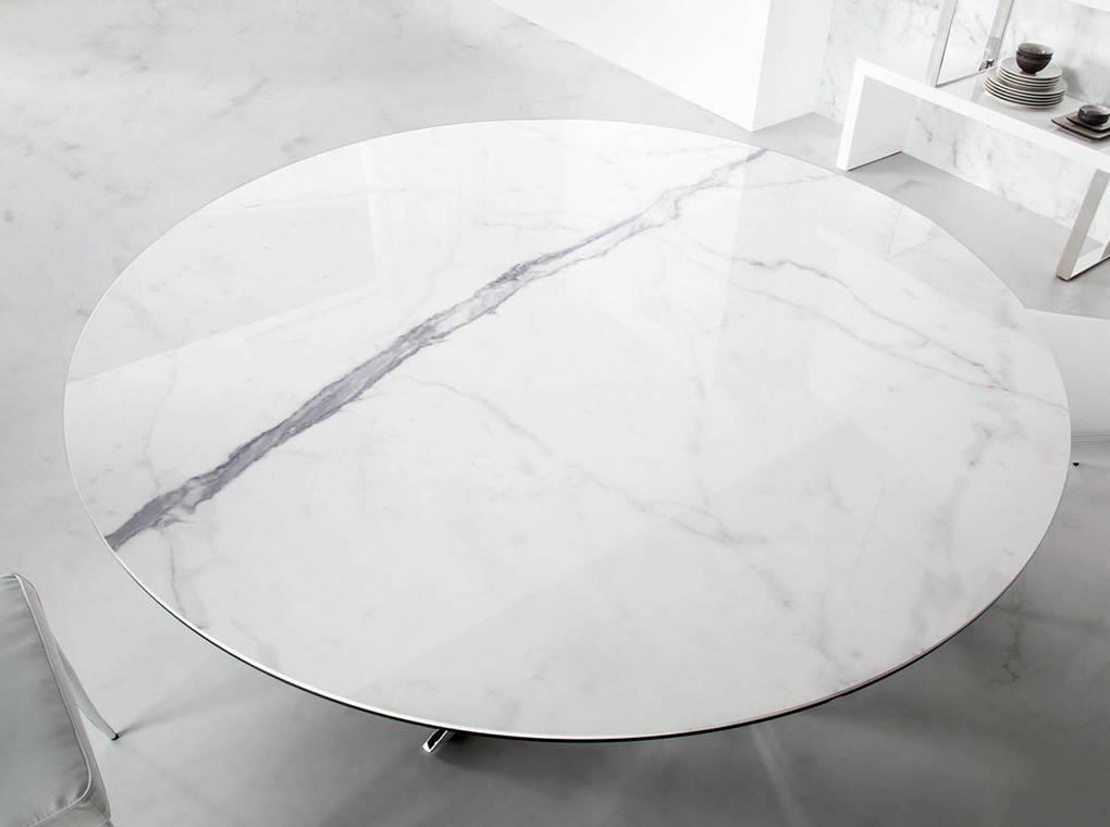 Mesa de comedor con tapa de mrmol porcelnico  Angel