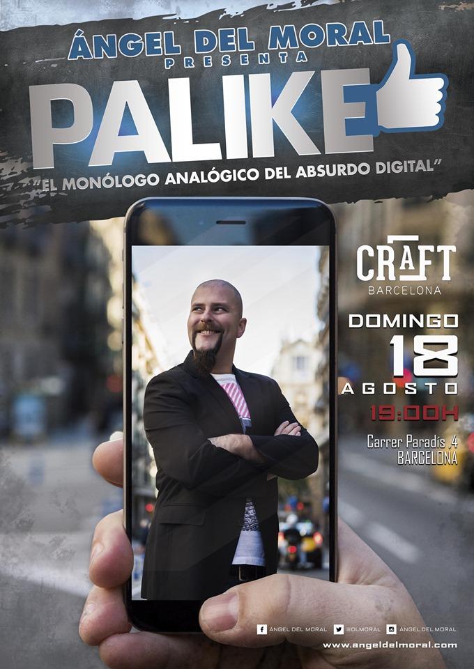 """Cartel de """"Palike - El Monólogo Analógico del Absurdo Digital"""""""