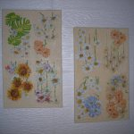 Cuadros con flores en Decoupage por Niler Fernandez
