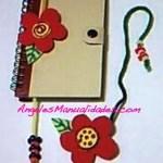 Marcador de Libros de Foamy con Diseño de Flor