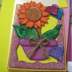 Tarjeta con flor hermosa para regalar