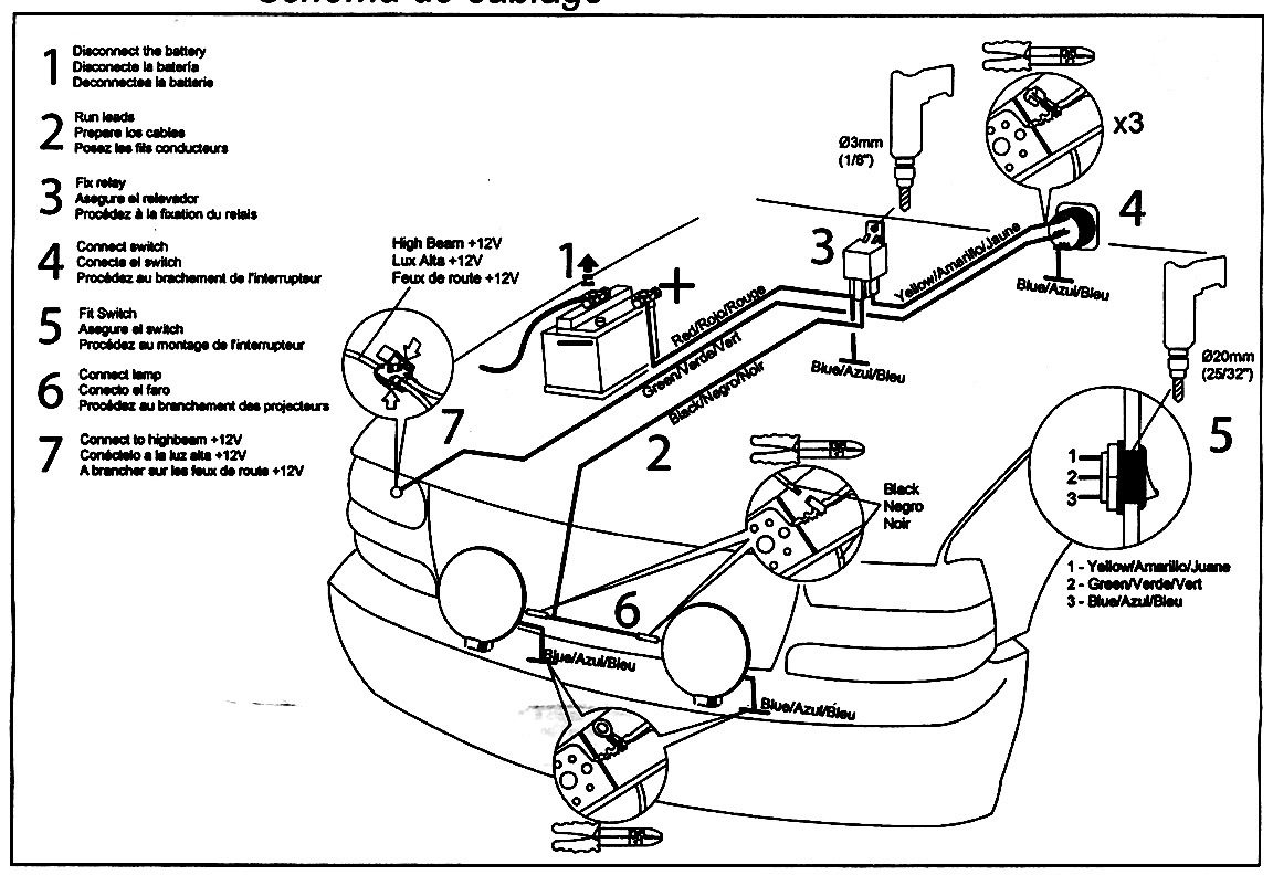 hella light wiring diagram 2006 nissan frontier radio 450 530 550 500 amber fog north american motoring
