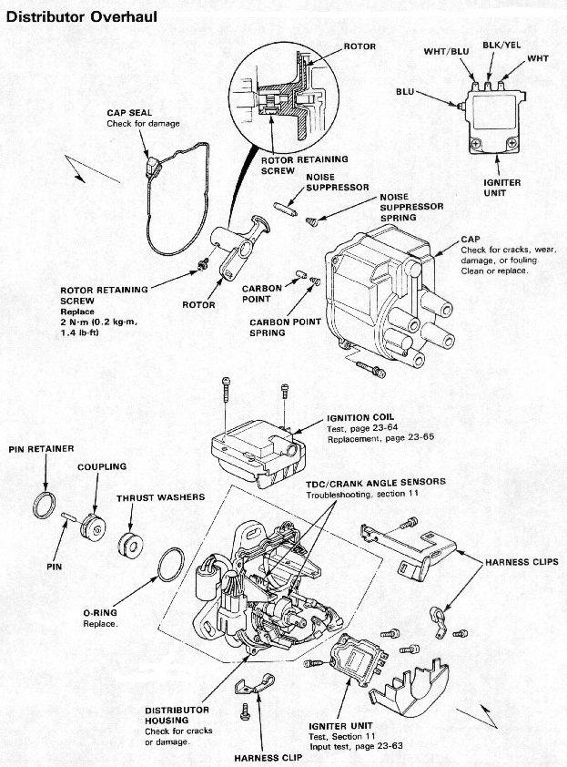honda distributor wiring harness