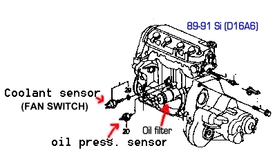 COOLANT SENSOR (FAN SWITCH)