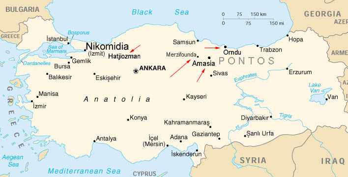 Are Pontic Mountains Located Where