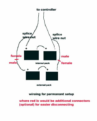 schwinn electric scooter battery wiring diagram 2004 chevy venture radio my new f 18 here is a of how i easily wired in the extra batteries