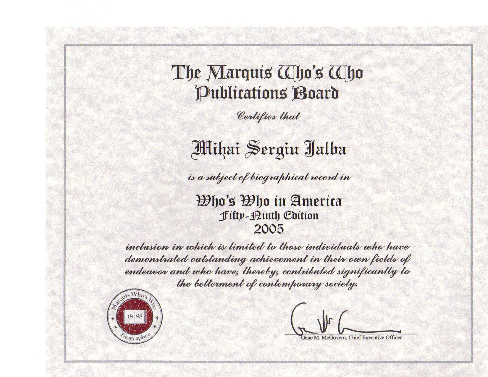 My American Credentials