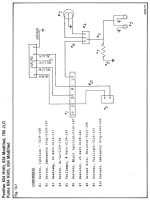 Rupp 634 Wt wiring diagram no lights need some
