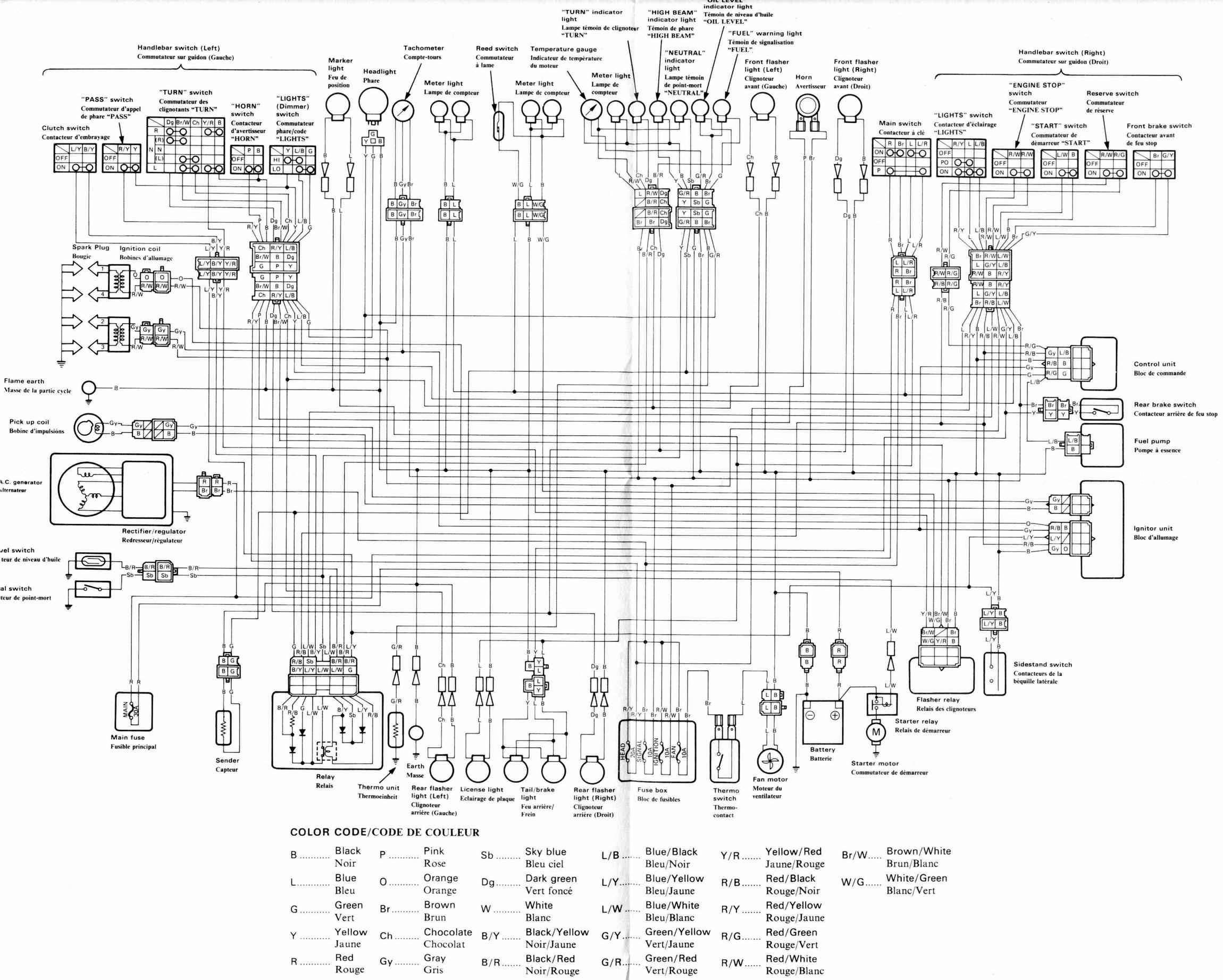 fzx700 yamaha wiring diagram