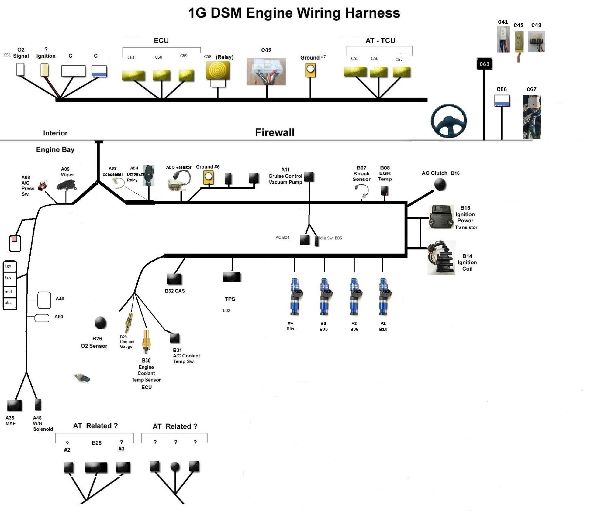 hight resolution of 1gb dsm 4g63 turbo wiring harness diagram 1gb dsm 4g63 turbo wiring harness 1991 94